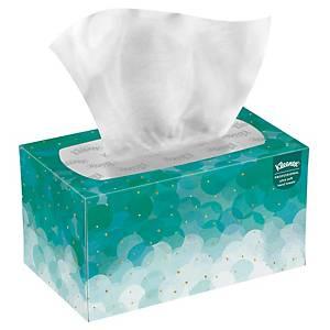 Caixa dispensadora 70 toalhas de mãos interfolhas Kleenex Ultra Soft