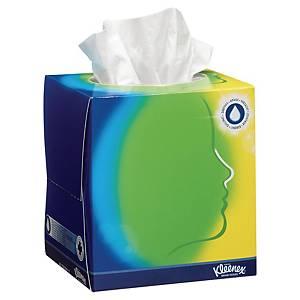 Caixa 56 toalhetes faciais Kleenex com bálsamo - 11,2 x12,1 cm - 3 folhas