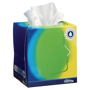 Caja de 56 pañuelos faciales Kleenex con bálsamo - 11,2 x 12,1 cm - 3 capas
