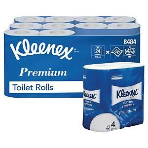 Papier toilette Kleenex® Extra Comfort, 160 feuilles par rouleau, 24 rouleaux