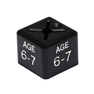 Cubex Age 6-7 Size Cube White /Black Pk50