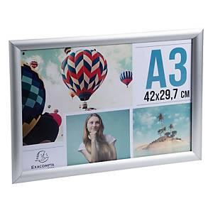 Cadre en aluminium Stewart Superior pour posters, A3, argenté, la pièce