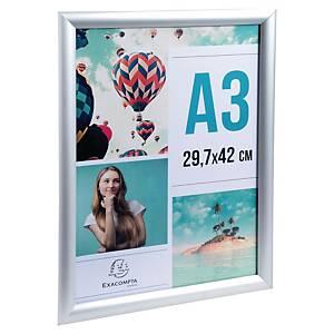 Cornice in alluminio spazzolato A3