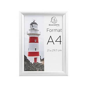 Bilderrahmen Stewart, A4, mit Schnappverschluss, Aluminium, silber
