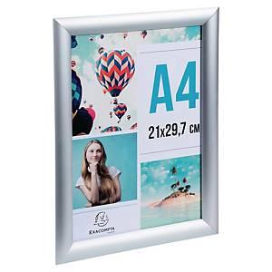 Információs alumínium keret A4, méret: 297 x 210 x 10 mm, ezüst