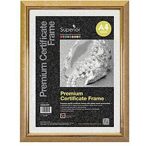 Premium Certificate Frame A4 Gold