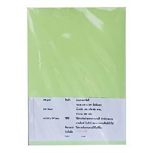 IQกระดาษการ์ดสี A4180 แกรม เขียว 1 แพ็คบรรจุ 100 แผ่น