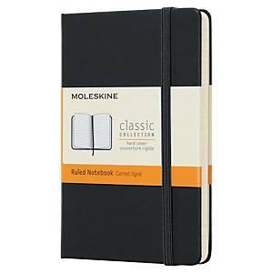 Carnet Moleskine - 9 x 14 cm - couverture rigide - 192 pages - ligné