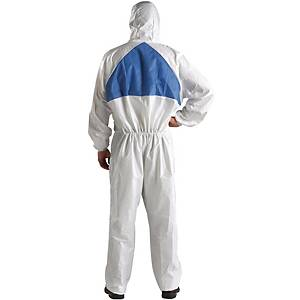 3M 4540 COVERALL CHEMICAL PROTECTION LARGE WHITE/BLUE