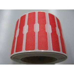 Dumbbell Label 12X52 Red - Roll of 1000