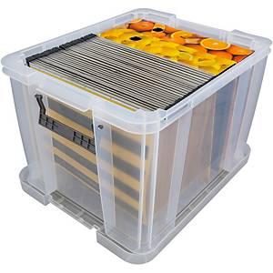 Boîte de rangement Allstore, 36 l, plastique transparent, la boîte
