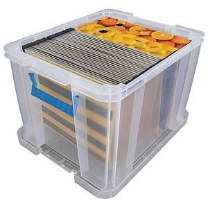 Allstore plastic opbergdoos, 36 l, transparant, per opbergbox