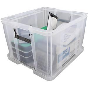 Allstore plastic opbergdoos, 48 l, transparant, per opbergbox