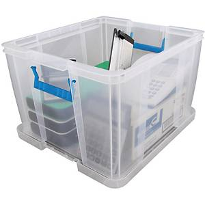Whitefurze Allstore Clear 48 Litre PP Storage Box
