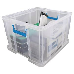 Whitefurze Allstore Clear 48 Litre PP Storage Box