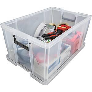 Boîte de rangement Allstore, 70 l, plastique transparent, la boîte