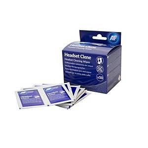 Lingettes nettoyantes pour casques AF Headset Clene, le paquet de 50 lingettes