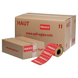 PK2 ROLLS APLI LABELS FRAGILE 100X50MM