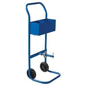 Dévidoir mobile en acier pour feuillard manuel - bleu