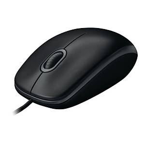 Logitech B100 USB Mouse Black