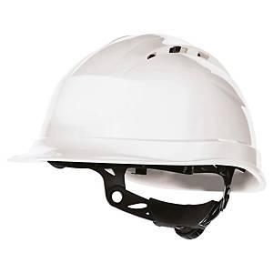 Casque de sécurité Deltaplus Quartz UP IV - ventilé - serrage glissière - blanc