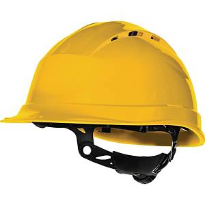Deltaplus Quartz IV Up safety helmet in PP with 8 fixing points yellow