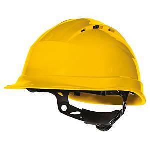 Casque de sécurité Deltaplus Quartz UP IV - ventilé - serrage glissière - jaune