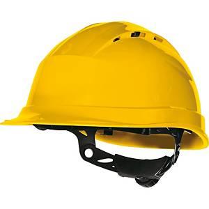 Casco de seguridad con ventilación Deltaplus Quartz UP IV - amarillo