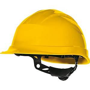 Capacete de protecção DELTAPLUS Quartz Up III amarelo não ventilado