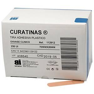 Caja de 250 Curatinas® Bimedica de plástico color piel - 70 x 20 mm