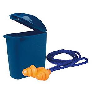 PK5 3M 1271 CORDED EAR PLUGS W/CASE BLUE