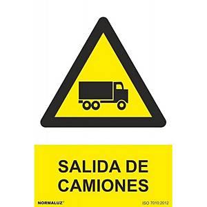 Placa  salida de camiones  - PVC - 300 x 210 mm