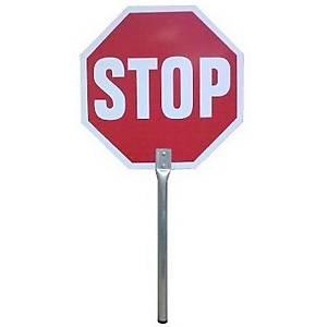 JULIO GARCIA HAND-HELD SIGN STOP/CAUTION