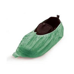 Caixa 100 proteções sapatos descartáveis OHP - PP - verde - tamanho único