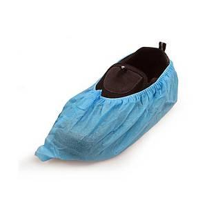 Caja de 100 cubrezapatos desechables - PP - azul celeste