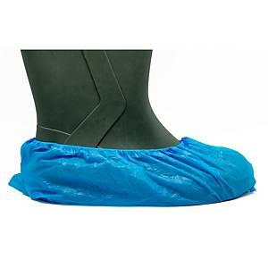 Caja de 100 cubrezapatos desechables Bimedica - polietileno - azul - talla única