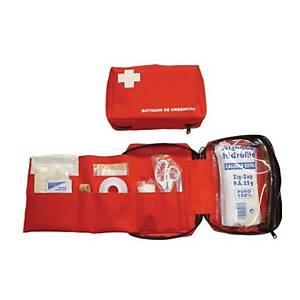 Neceser botiquín de primeros auxilios Bimedica de nailon - rojo