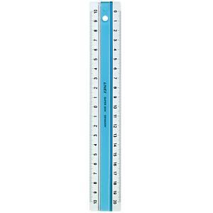 Lineal Linex Super, 20 cm, acryl, blå