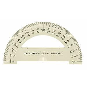 Vinkelmåler Linex, 180 grader, 10 cm, natur