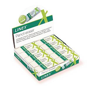 Viskelæder Linex, PVC fri, hvid, pakke a 20 stk.