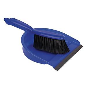 Colour Coded Dustpan & Brush Set Blue
