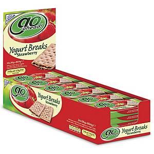 McVitie s Go Ahead Strawberry Yogurt Breaks - Pack of 24