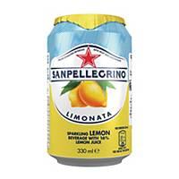 San Pellegrino Lemon Sparkling Fruit Beverage 330ml - Pack of 24