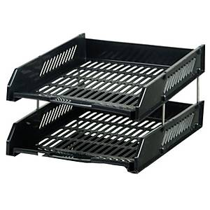 ORCA L2 LETTER TRAY 2 LEVEL BLACK