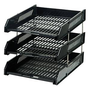 ORCA L3 LETTER TRAY 3 LEVEL BLACK