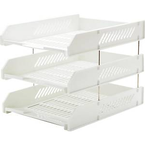 ORCA L3 LETTER TRAY 3 LEVEL WHITE