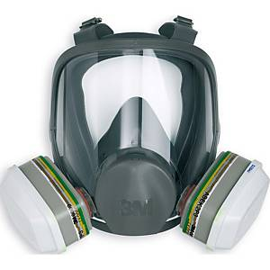 Masque complet 3M 6800, tailleM, silicone, gris