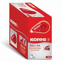 Korekční roller Kores 84723 Roll on, 4,2 mm × 15 m, červený