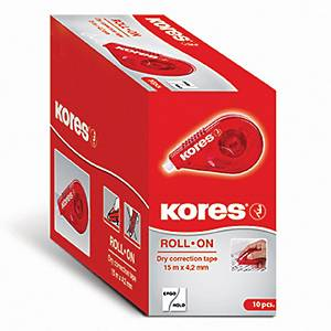 KORES 84723 CORRECT ROLL 15MX4,2MM RED