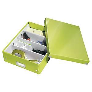 Opbevaringskasse Leitz WOW Click&Store, mellem, grøn